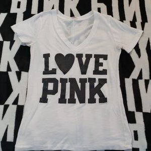 """VS pink. """"  I only sleep in Pink""""  t shirt"""